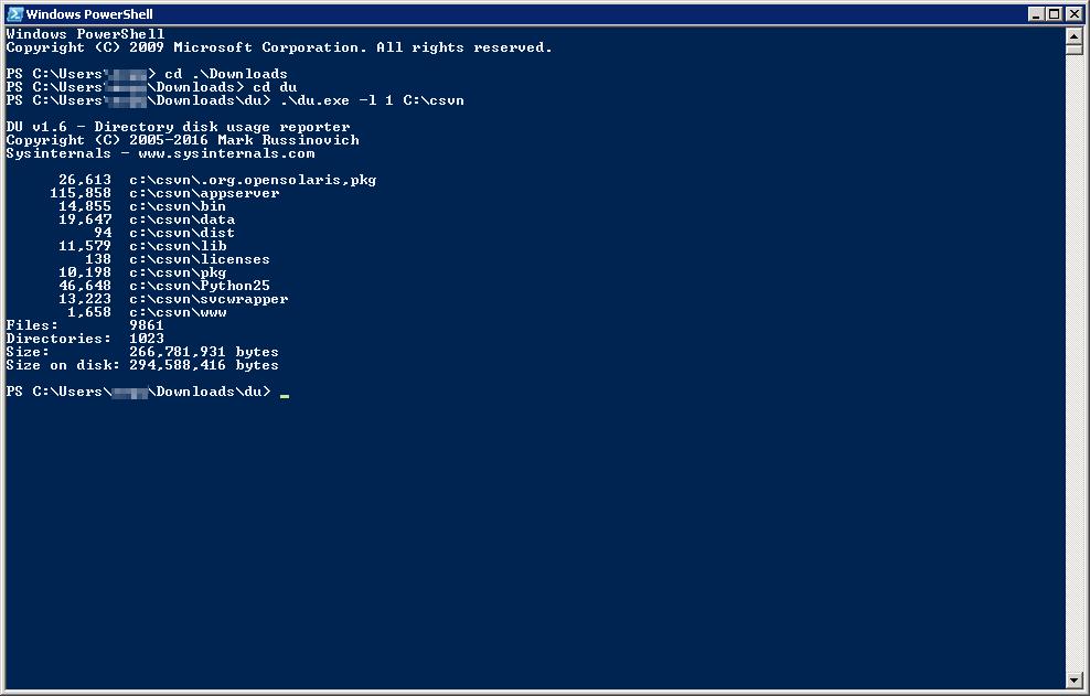 El comando du de Linux en Windows   USAM · Un SysAdmin Más